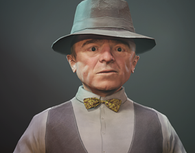 Small man mr Anderson - Dwarf 3D asset