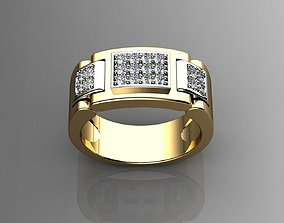 3D printable model Diamond Mens Rings