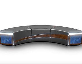 Virtual TV Studio News Desk 4 3D