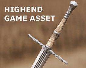 3D model Medieval Sword for Games and Cinematics 04