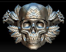Skull ring ornament 3D printable model