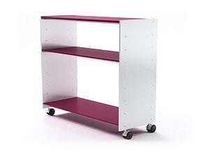 White Eileen Rolling Shelf 3D model