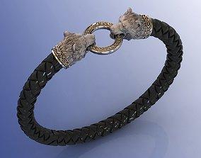 3D print model Scandinavian Knot Bear Men Bracelet with 1