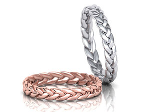 Braided ring Woven ring 3d model