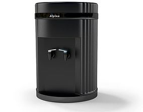 3D model Black Plastic Water Dispenser