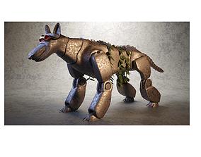 Robo-Dog Steampunk 3D