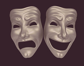 3D model Theater Mask various
