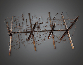 Barbed Wire Stop 02 - MLT - PBR Game Ready 3D asset