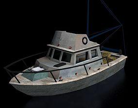 3D asset realtime Boat 3