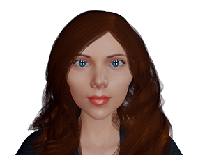 Black Widow Rigged 3D model rigged
