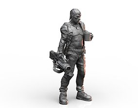 3D print model Old Mercenary Veteran Sci Fi Character