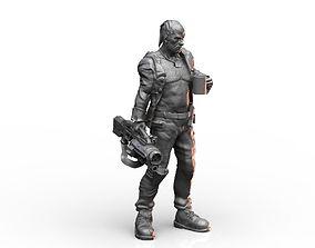3D print model Old Mercenary Veteran Sci Fi Character