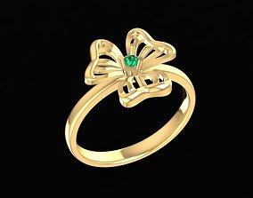 3D print model 1679 Diamond Flower ring