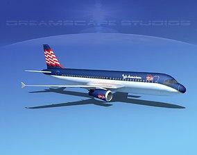 3D model Airbus A320 LP Jet America