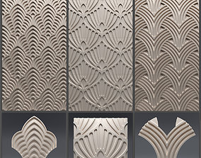 Gypsum 3D panel set 4
