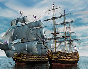 3D HMS Victory Ship ship