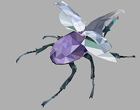 Firefly Bark Beetle Low Polygon Art Insect 3D asset