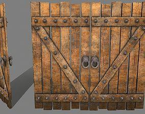 Medieval Door 3D asset VR / AR ready portal
