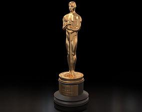 3D Academy Award Oscar Statue