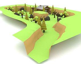Farm Land Cartoon 3D model