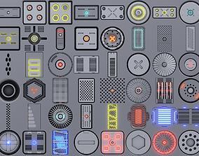 3D asset 50 Scifi Decal Pack