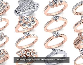 98 Fancy Ring Collection And Render Detail 3D