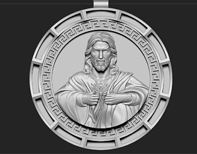 Jesus Head pendant 7 3D print model