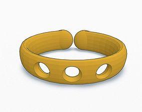 3D print model 3 Hole Bracelet