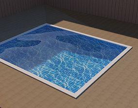 3D asset Pool Low Poly