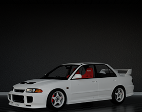 3D model 1995 Mitsubishi Lancer Evolution iii GSR