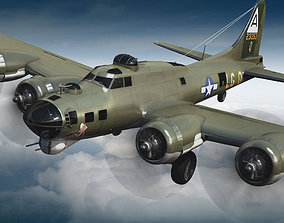 3D Boeing B-17 Super Fortress Bomber
