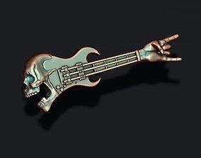 skull guitar pendant 3D printable model