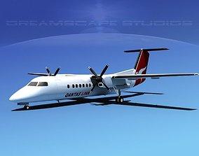 DeHavilland DHC-8-Q300 Qantas Link 3D