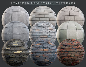 Stylized Industrial PBR material pack 3D model