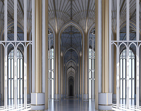Classic Cathedral Interior 324 3D model
