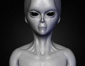 Realistic Alien 1 Sculpt 3D