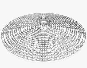 3D printable model Circle Square Truss Modular 4