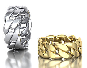 3D printable model Cuban Link Chain Ring Stackble Ring 1