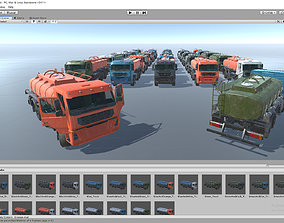 Cistern Tanker Truck for Unity3D game-ready