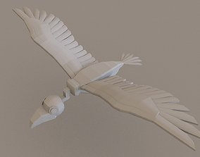 game-ready Vulture 3D Model Lowpoloy