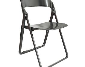 Black Folding Chair Casamania 3D