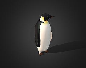 3D model Low Poly Emperor Penguin