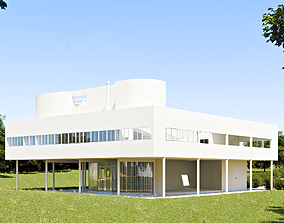 3D model Villa Savoye - Le Corbusier