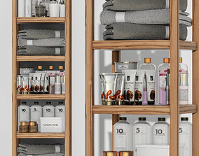 carcass Shelving in a bathroom with cosmetics 3D