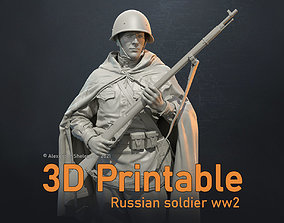 Russian soldier ww2 1 16 scale 3D printable model