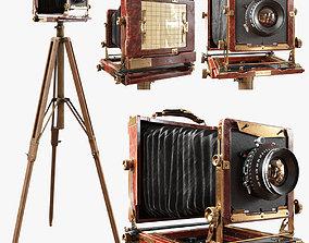 3D model Vintage Wista Field Camera on a Tripod