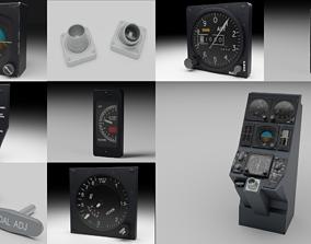 3D F16 Centre Console Instruments PACK