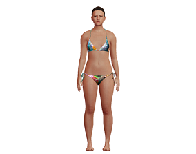 3D asset rigged Girl Character