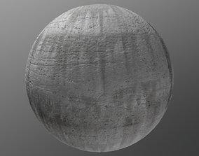 PBR Concrete 1 - 8K Seamless Texture 3D model