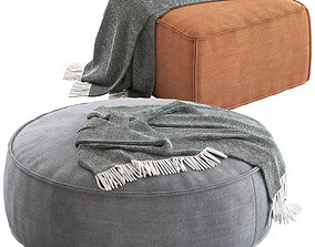 Globewest Orlando Seamed Ottomans 3D model